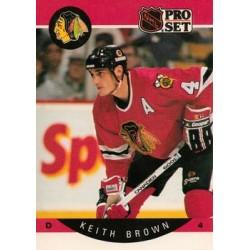 1990-91 Pro Set c. 049 Keith Brown CHI