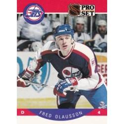 1990-91 Pro Set c. 335 Fredrik Olausson ERR: Named spelled Fred on front, Fredrik on back WIN