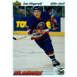 1991-92 Upper Deck French c. 389 Fitzgerald Tom NYI