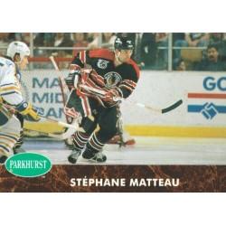 1991-92 Parkhurst c. 259 Stephane Matteau CHI