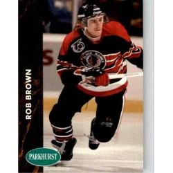 1991-92 Parkhurst c. 258 Rob Brown CHI
