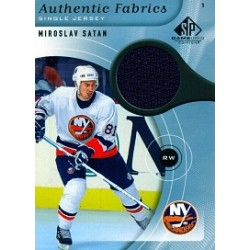 2005-06 SP Game Used Single Jersey Satan Miroslav c. AF-SA NYI