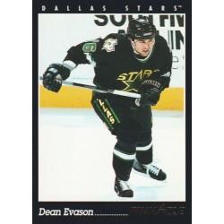 1993-94 Pinnacle Canadian c. 384 Dean Evason DAL