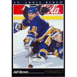 1993-94 Pinnacle Canadian c. 039 Brown Jeff STL