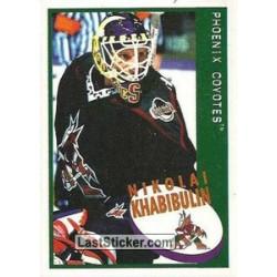 1997-98 Panini Stickers c. 155 Nikolai Khabibulin  PHX