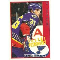 1997-98 Panini Stickers c. 166 Robert Petrovicky  STL