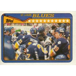 1990-91 Topps c. 220 Jeff Brown, Kelly Chase, Dave Lowry, Sergio Momesso, Adam Oates STL