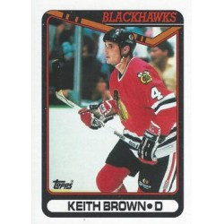 1990-91 Topps c. 276 Keith Brown CHI