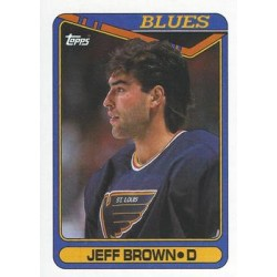 1990-91 Topps c. 295 Jeff Brown STL