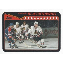 1990-91 Topps c. 363 Dave Manson, Mike Peluso CHI