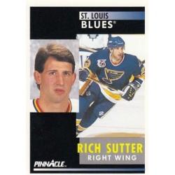 1991-92 Pinnacle c. 268 Rich Sutter STL