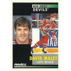 1991-92 Pinnacle c. 272 David Maley NJD