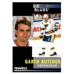 1991-92 Pinnacle French c. 085 Garth Butcher STL