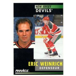 1991-92 Pinnacle French c. 089 Eric Weinrich NJD
