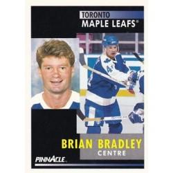 1991-92 Pinnacle French c. 090 Brian Bradley TOR