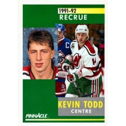 1991-92 Pinnacle French Rookie c. 308 Kevin Todd NJD