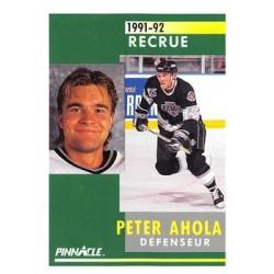 1991-92 Pinnacle French Rookie c. 312 Peter Ahola LAK