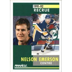 1991-92 Pinnacle French Rookie c. 314 Nelson Emerson STL