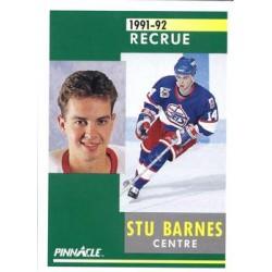 1991-92 Pinnacle French Rookie c. 319 Stu Barnes WIN