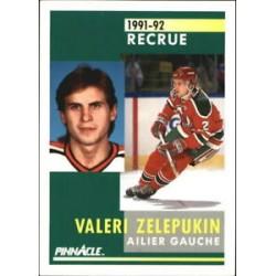 1991-92 Pinnacle French Rookie c. 354 Valeri Zelepukin NJD