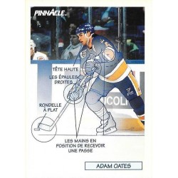 1991-92 Pinnacle French Technicien c. 378 Adam Oates STL