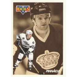 1991-92 Pinnacle French The Idols c. 385 Luc Robitaille, Marcel Dionne LAK