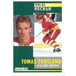 1991-92 Pinnacle French Rookie c. 333 Tomas Forslund CGY