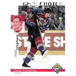 1998-99 UD Choice c. 241 Peter Forsberg COL
