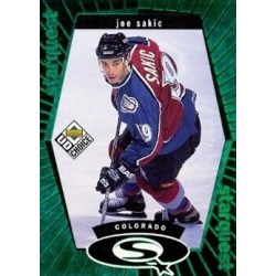 1998-99 UD Choice Starquest Green c. SQ11 Joe Sakic COL