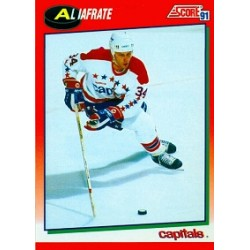 1991-92 Score Canadian English (Red) c. 209 Iafrate Al WSH