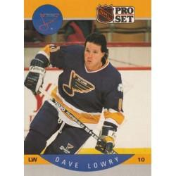 1990-91 Pro Set c. 265 Dave Lowry STL