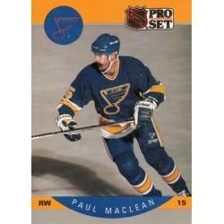 1990-91 Pro Set c. 266 Paul MacLean STL