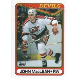 1990-91 Topps c. 224 John MacLean NJD
