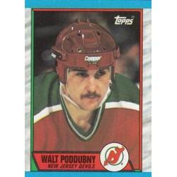 1989-90 Topps c. 184 Walt Poddubny NJD