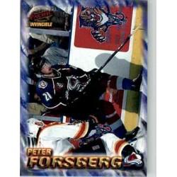 1997-98 Pacific Invincible NHL Regime c. 051 Peter Forsberg COL