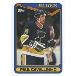 1990-91 Topps c. 057 Paul Cavallini STL