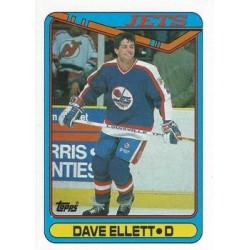 1990-91 Topps c. 104 Dave Ellett WIN