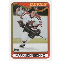 1990-91 Topps c. 178 Mark Johnson NJD