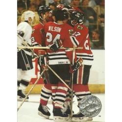 1991-92 Pro Set Platinum c. 141 Chicago Blackhawks CHI