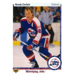 1990-91 Upper Deck (1991 text hologram) c. 331 Randy Carlyle WIN