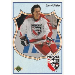 1990-91 Upper Deck (1991 text hologram) c. 504 Darryl Sittler TOR