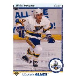 1990-91 Upper Deck (1990 text hologram) c. 345 Michel Mongeau STL