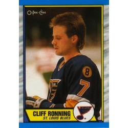 1989-90 O-Pee-Chee c. 045 Cliff Ronning STL