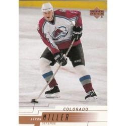 2000-01 Upper Deck c. 049 Aaron Miller COL
