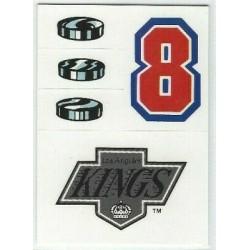 1989-90 Topps Helmet Stickers c. 22 Los Angeles Kings LAK
