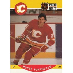 1990-91 Pro Set c. 424 Roger Johansson CGY