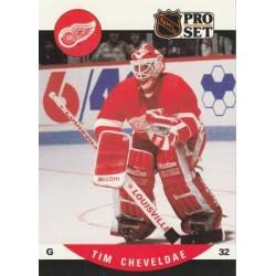 1990-91 Pro Set c. 602 Tim Cheveldae DET