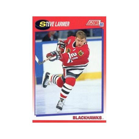 1991-92 Score Canadian Bilingual c. 140 Steve Larmer CHI