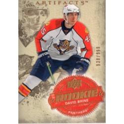 2008-09 Artifacts Rookie 938/999 c. 232 David Brine FLO
