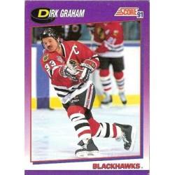 1991-92 Score American c. 015 Graham Dirk CHI